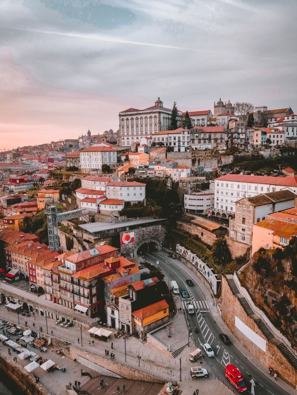 aerial shot of Porto, Portugal_best corporate retreat destinations_flok