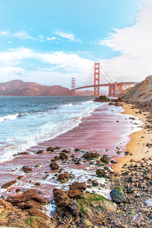 Beach waves with Golden Gate Bridge in the background_best corporate retreat destinations_flok